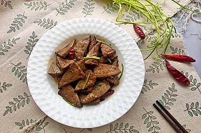 爆炒羊肝#金龙鱼外婆乡小榨菜籽油 最强家乡菜#