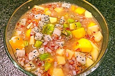 红米水果粥