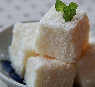 牛奶椰蓉小方糕的做法