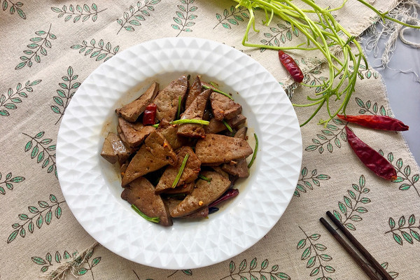 爆炒羊肝#金龙鱼外婆乡小榨菜籽油 最强家乡菜#的做法