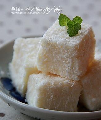 牛奶椰蓉小方糕