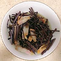 咸肉炒蕨菜