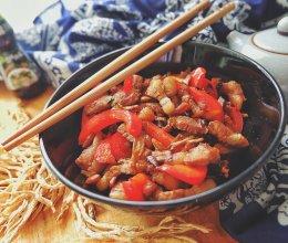 萝卜干彩椒炒肉#鲜香滋味搞定萌娃#的做法