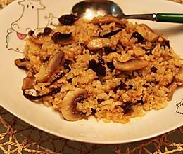 菌菇烩饭的做法