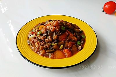 蒜辣肉酱焖茄茄