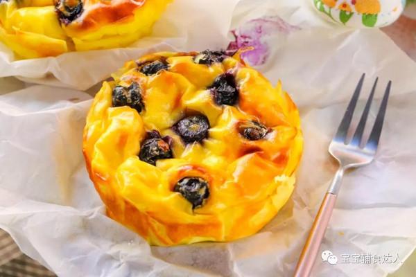 爆浆蓝莓蛋糕 宝宝辅食食谱