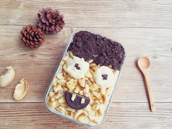 The King 国王蛋糕 巧克力香蕉冰盒子蛋糕的做法
