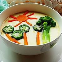 蔬菜蒸蛋羹#嘉宝笑容厨房#的做法图解4