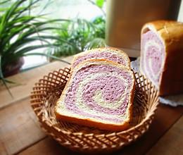 之紫薯双色吐司#东菱魔力果趣面包机#的做法