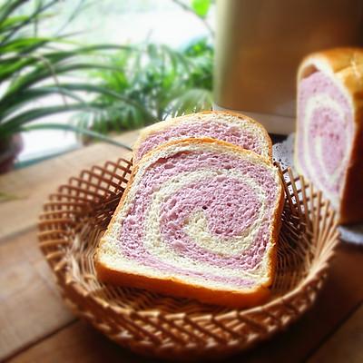 之紫薯双色吐司