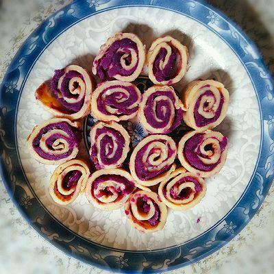 创意紫薯鸡蛋卷