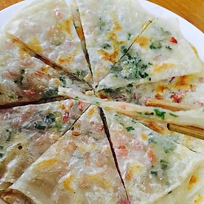 饺子皮火腿葱油饼