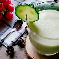 黄瓜苹果酸奶汁(喝出A4腰)的做法图解4