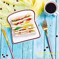 #一人一道拿手菜# 培根三明治的做法图解10