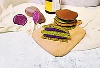 抹茶紫薯铜锣烧的做法