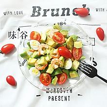 鲜虾牛油果沙拉——减肥懒人菜