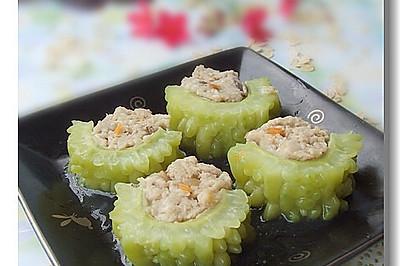 母亲节为婆婆设计的一道降糖降压菜——燕麦苦瓜酿
