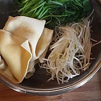 素食主义——菠菜拌豆皮的做法图解2