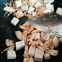 豆腐炒肉的做法图解4