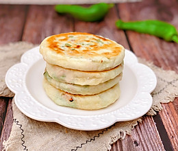 #馅儿料美食,哪种最好吃#青椒火腿饼的做法