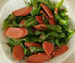 辣椒炒火腿的做法