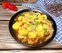 #全电厨王料理挑战赛热力开战!#金针菇日本豆腐煲的做法