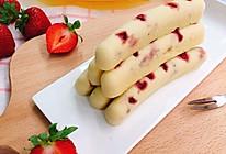 宝宝辅食【草莓蛋糕肠】的做法