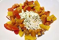 #冰箱清空计划#换个花样吃早餐:红薯+甜椒+鸡蛋的完美组合的做法