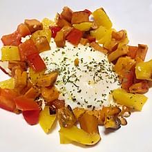 #冰箱清空计划#换个花样吃早餐:红薯+甜椒+鸡蛋的完美组合