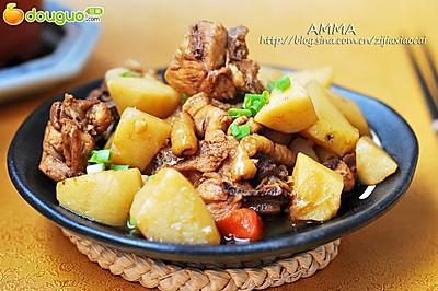 土豆炖鸡大腿