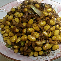 小米家常菜之 肉丁酱炒黄豆的做法图解7
