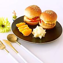 鸡肉汉堡#博世红钻家厨#