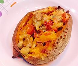 零基础微波炉美食-芝士焗红薯的做法