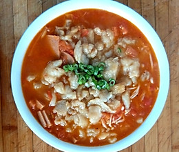 番茄西红柿汤龙利鱼可以喝汤的哦的做法