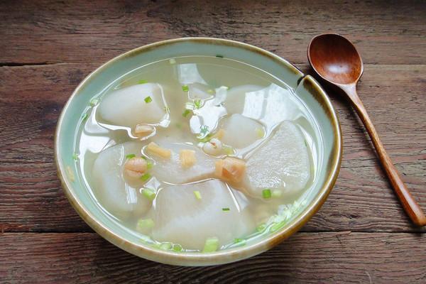 极简单的干贝萝卜汤的做法