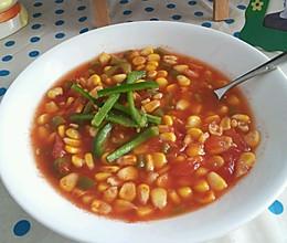 减肥餐  玉米番茄汤的做法