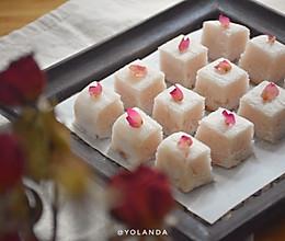 玫瑰花糕 #精品菜谱挑战赛#的做法