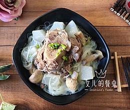 秋季润燥:黑豚筒骨萝卜汤的做法