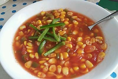 减肥餐  玉米番茄汤