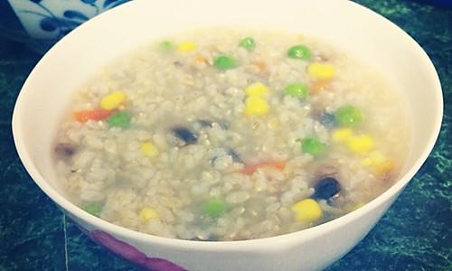 蘑菇田园糙米粥的做法