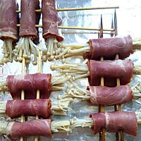 烤培根金针菇卷的做法图解4
