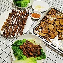 一次吃到心满意足的烤菜和烤肉串