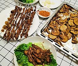一次吃到心满意足的烤菜和烤肉串的做法