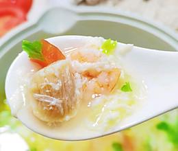 虾仁干贝鲜蔬芙蓉汤简单易做营养美味的做法