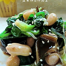 家常小凉菜---菠菜粉丝拌花生