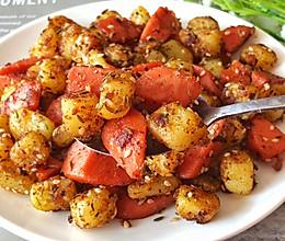 3分钟搞定❗️比烧烤还好吃的孜然土豆火腿的做法