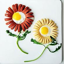 花朵香肠煎蛋#美的早安豆浆机#
