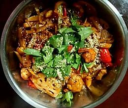 干锅鸡翅虾的做法