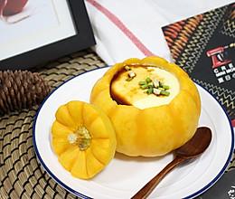 【南瓜盏炖蛋】 #快手又营养,我家的冬日必备菜品#的做法
