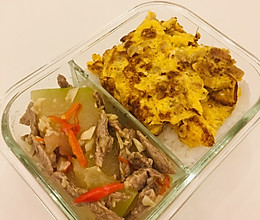 清炒冬瓜瘦肉-带饭族的做法